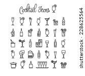cocktail icons. | Shutterstock .eps vector #228625564