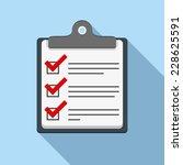 check list icon  flat design...   Shutterstock .eps vector #228625591
