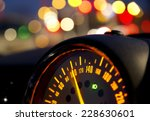 close up of car speed meter | Shutterstock . vector #228630601