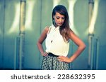 young beautiful female model... | Shutterstock . vector #228632395