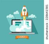 flat design modern vector... | Shutterstock .eps vector #228641581