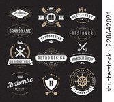 retro vintage insignias or... | Shutterstock .eps vector #228642091