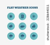 flat icons collection. weather...