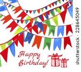 happy birthday. vector... | Shutterstock .eps vector #228645049