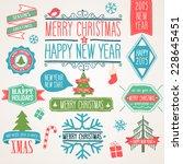 merry christmas icon set.... | Shutterstock .eps vector #228645451