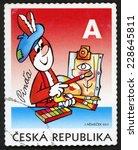 czech republic   circa 2011 ... | Shutterstock . vector #228645811