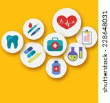 illustration set medical icons... | Shutterstock .eps vector #228648031