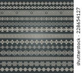 border decoration elements... | Shutterstock . vector #228654127