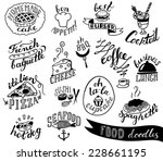 hand drawn food doodles | Shutterstock .eps vector #228661195