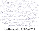 collection of fictitious... | Shutterstock .eps vector #228662941