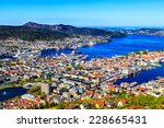 view on bergen and harbor from... | Shutterstock . vector #228665431