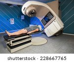man receiving radiation therapy ... | Shutterstock . vector #228667765