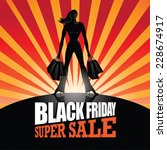 black friday super sale... | Shutterstock . vector #228674917