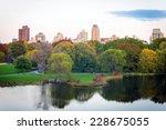 turtle pond from belvedere... | Shutterstock . vector #228675055