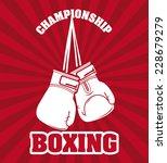 boxing graphic design   vector...   Shutterstock .eps vector #228679279