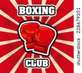 boxing graphic design   vector... | Shutterstock .eps vector #228679351