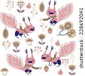 vector background with squirrel | Shutterstock .eps vector #228692041