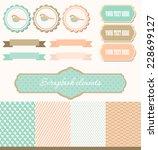 vintage scrapbook set | Shutterstock .eps vector #228699127