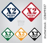 vector   colorful rhombus x2... | Shutterstock .eps vector #228699337