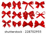 Shiny Red Satin Ribbon On Whit...