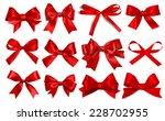 Shiny Red Satin Ribbon On Whit...