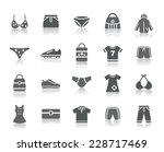clothing and accessories icons | Shutterstock .eps vector #228717469