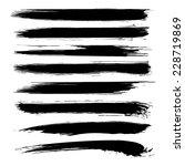 vector set of grunge brush...   Shutterstock .eps vector #228719869