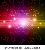red purple yellow color light... | Shutterstock .eps vector #228725065