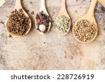red chili peppers  garlic  bay... | Shutterstock . vector #228726919