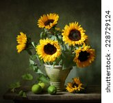 Still Life With Sunflowers And...