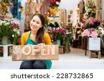 pretty seller of the shop... | Shutterstock . vector #228732865