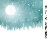 abstract winter background with ... | Shutterstock .eps vector #228741781