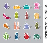 food and drinks color icon label | Shutterstock .eps vector #228751255