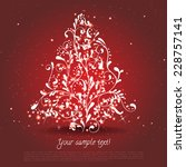 christmas card template with... | Shutterstock .eps vector #228757141