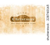 christmas background with light ... | Shutterstock .eps vector #228760165