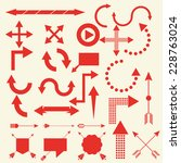 arrows vector set illustration | Shutterstock .eps vector #228763024
