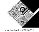 Dance Typography - stock photo