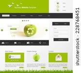 eco website template  vector...
