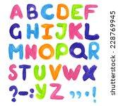 watercolor  paint  font... | Shutterstock .eps vector #228769945