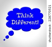 think different bubble showing... | Shutterstock . vector #228770521