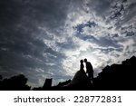 silhouette couple | Shutterstock . vector #228772831