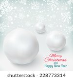 background with snowballs and...   Shutterstock .eps vector #228773314
