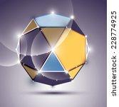 3d shiny mirror ball. vector... | Shutterstock .eps vector #228774925