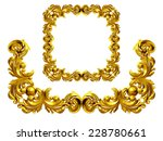 golden frame with baroque... | Shutterstock . vector #228780661
