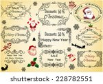 elements of christmas vintage... | Shutterstock . vector #228782551