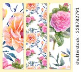 floral cards on yellow...   Shutterstock . vector #228782791