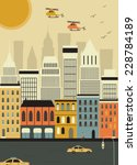 helicopters over the new york... | Shutterstock .eps vector #228784189