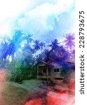 bright multicolored retro... | Shutterstock . vector #228793675