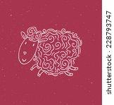 illustration of cute sheep | Shutterstock .eps vector #228793747