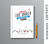 world travel book template... | Shutterstock .eps vector #228793975